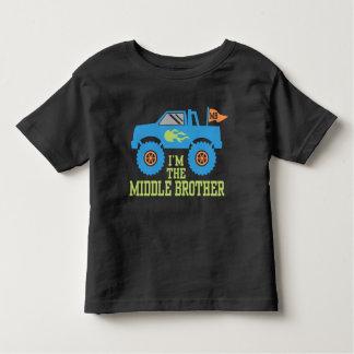 Camiseta Infantil Eu sou o monster truck médio do irmão