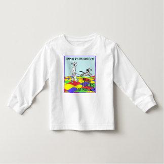 Camiseta Infantil Eu sou seu cão, tshirt longo da luva, camisa,