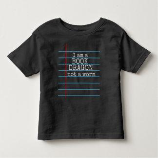 """Camiseta Infantil """"Eu sou um DRAGÃO do LIVRO não o conselho de giz"""