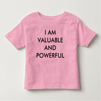 Camiseta Infantil Eu sou valioso e poderoso eu sou a resistência