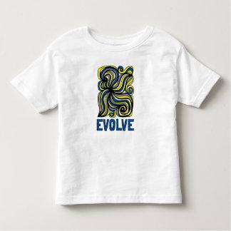 """Camiseta Infantil """"Evolua"""" o t-shirt fino do jérsei da criança"""