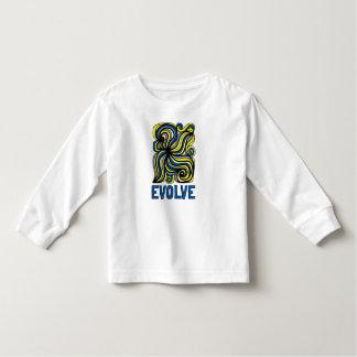 """Camiseta Infantil """"Evolua"""" o t-shirt longo da luva da criança"""