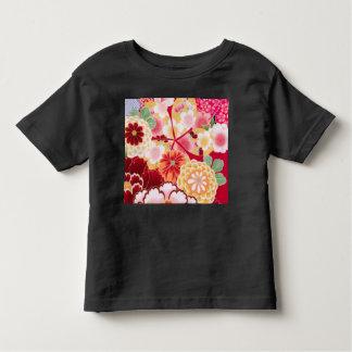 Camiseta Infantil Explosão floral vermelha de Falln