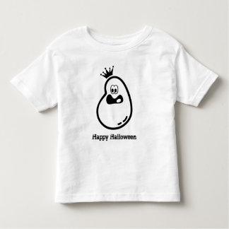 Camiseta Infantil Fantasma bonito do Dia das Bruxas com coroa