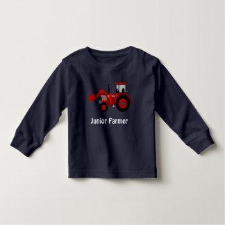 """Camiseta Infantil """"Fazendeiro júnior"""" e trator vermelho do"""