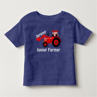 """Camiseta Infantil """"Fazendeiro júnior personalizado"""" & trator"""