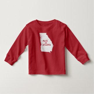 Camiseta Infantil Feito no TShirt da criança de Atlanta