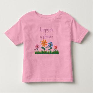 Camiseta Infantil Feliz como um Tshirt da flor