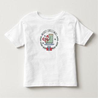 Camiseta Infantil Feliz Natal que cumprimenta o t-shirt da criança