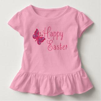 Camiseta Infantil Felz pascoa com borboleta