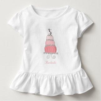 Camiseta Infantil Festa de aniversário da menina cor-de-rosa