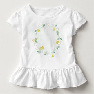 Camiseta Infantil Festão macia do design das flores