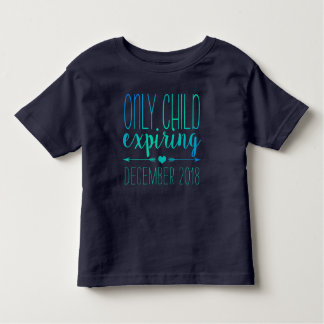 Camiseta Infantil Filho único que expira - marinho e turquesa Ombre