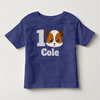 Camiseta Infantil Filhote de cachorro feliz bonito personalizado
