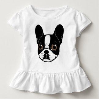 Camiseta Infantil Filhote de cachorro Pied encapuçado dobro do