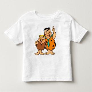 Camiseta Infantil Flintstone da entulho e do Fred da discussão