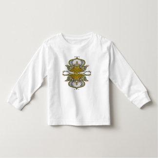 Camiseta Infantil flor étnica abstrata