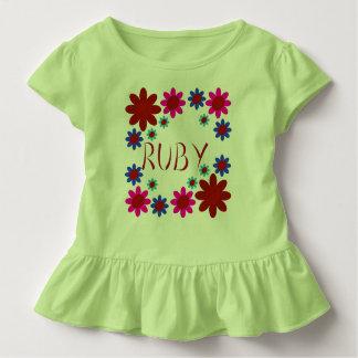 Camiseta Infantil Flores do RUBI