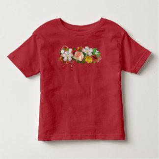 Camiseta Infantil Flores e fita