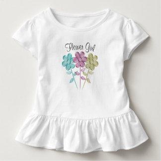 Camiseta Infantil Florista da cor de água - T do plissado