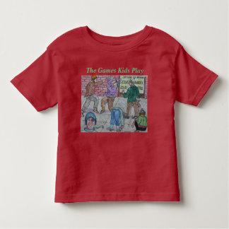 Camiseta Infantil Forma projetada do jogo para miúdos