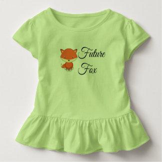 Camiseta Infantil Fox do futuro - T do plissado da criança