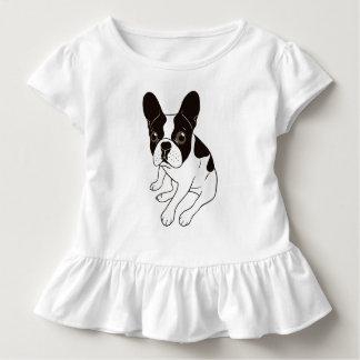 Camiseta Infantil Frenchie pied encapuçado dobro bonito está
