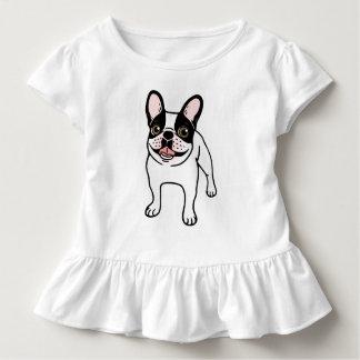 Camiseta Infantil Frenchie Pied encapuçado dobro feliz