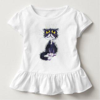 Camiseta Infantil Gato preto e branco