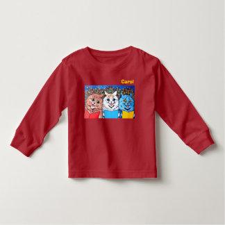 Camiseta Infantil Gatos do vintage que cantam o #holidayz das