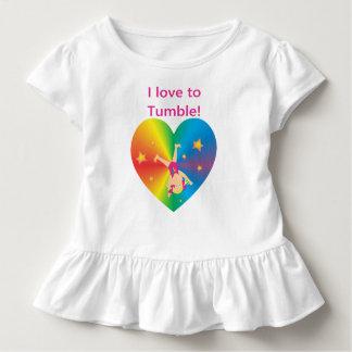 Camiseta Infantil Ginástica - amor a cair por Bella