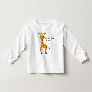 Camiseta Infantil girafa no estilo com vidros para ela