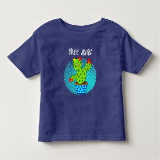 Camiseta Infantil Gráfico de sorriso da planta do cacto dos abraços