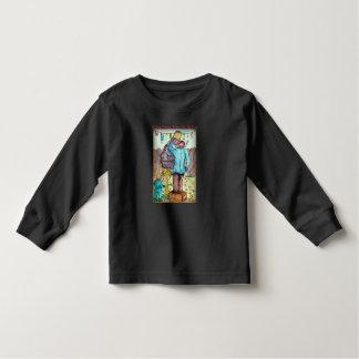 Camiseta Infantil Granpa de ajuda cobre sua árvore de figo