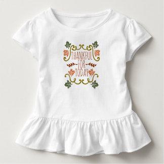 Camiseta Infantil Grato para o T do plissado da acção de graças | de