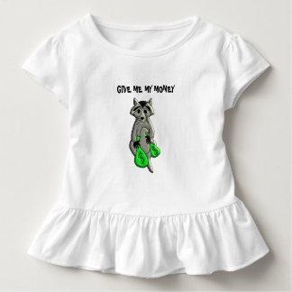 Camiseta Infantil Guaxinim - dê-me o dinheiro