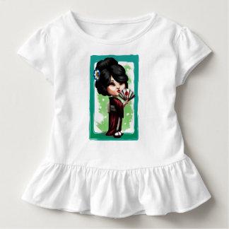 Camiseta Infantil Gueixa de Kawaii