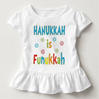 """Camiseta Infantil """"Hanukkah é t-shirt do plissado das MENINAS de"""