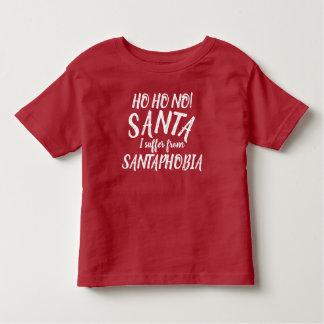 Camiseta Infantil Ho Ho não! Papai noel que eu sofro do t-shirt de