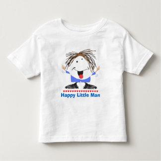Camiseta Infantil Homem pequeno feliz