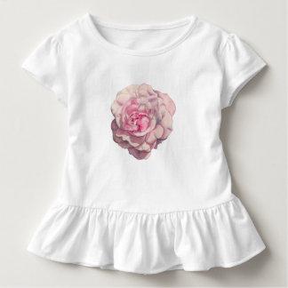 Camiseta Infantil Ilustração da aguarela do rosa do rosa