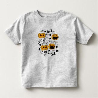 Camiseta Infantil Ilustração das criaturas do Dia das Bruxas