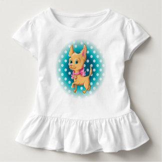 Camiseta Infantil Ilustração de uma chihuahua bonito do cão