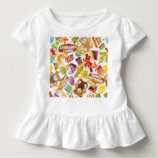 Camiseta Infantil Ilustração do teste padrão do feliz aniversario