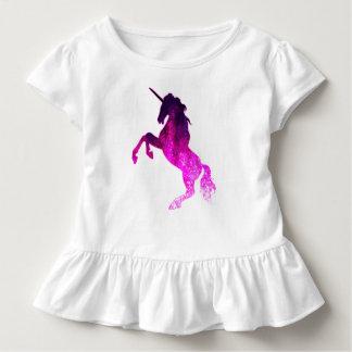 Camiseta Infantil Imagem sparkly do unicórnio bonito cor-de-rosa da