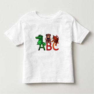 Camiseta Infantil Impressão do alfabeto de ABC dos animais dos