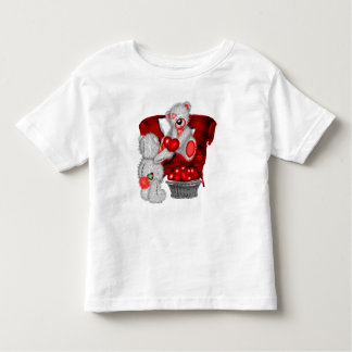 Camiseta Infantil impressão maravilhoso da arte dos ursos para a
