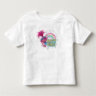 Camiseta Infantil Impressões felizes da papoila dos troll |