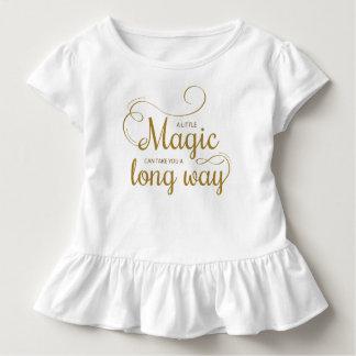 Camiseta Infantil Inspirado pouco T mágico do plissado das citações