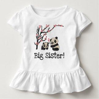 Camiseta Infantil Irmã mais velha dos ursos de panda